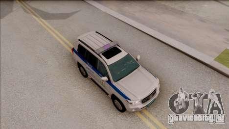 Toyota Land Cruiser 200 Russian Police для GTA San Andreas вид справа