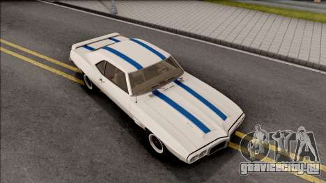 Pontiac Firebird Trans Am Coupe 1969 для GTA San Andreas вид справа
