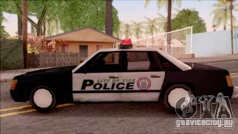 Vice City Police Car для GTA San Andreas вид слева