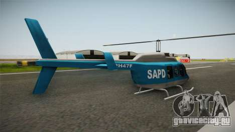Serbian Police Helicopter для GTA San Andreas вид справа