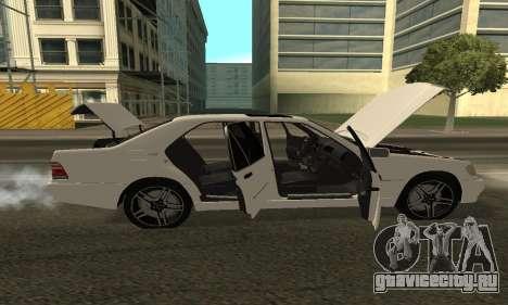 Mercedes-Benz S600 Armenian для GTA San Andreas вид справа