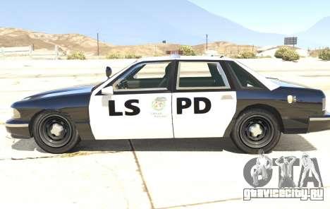 Полицейское авто из GTA San Andreas для GTA 5 вид слева