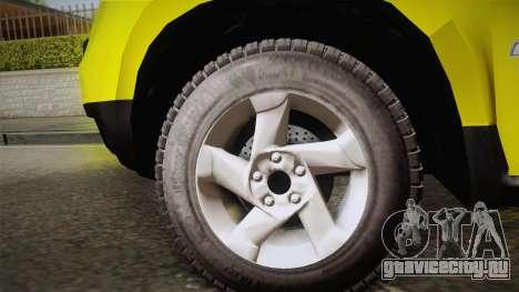 Renault Duster Taxi для GTA San Andreas вид сзади слева