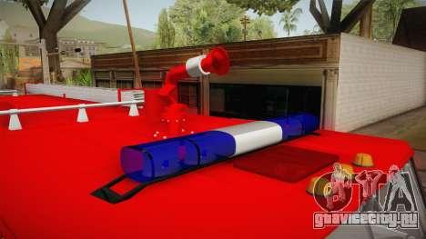 КамАЗ 53212 Пожарная машина города Арзамас для GTA San Andreas вид изнутри