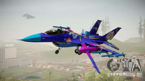 FNAF Air Force Hydra Bonnie для GTA San Andreas вид сзади слева