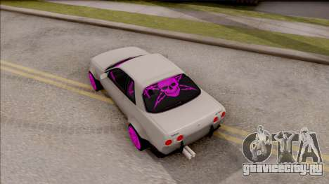 Nissan Skyline R32 Rocket Bunny для GTA San Andreas вид сзади