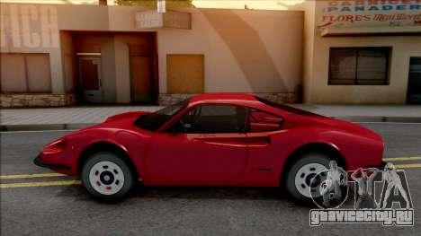 Ferrari Dino 264 1969 для GTA San Andreas вид слева