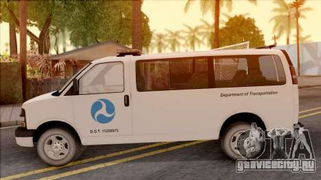 Chevrolet Express San Andreas DOT 2010 для GTA San Andreas вид слева