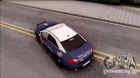 Ford Taurus Spanish Police для GTA San Andreas вид сзади