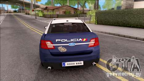 Ford Taurus Spanish Police для GTA San Andreas вид сзади слева
