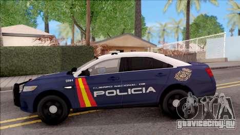 Ford Taurus Spanish Police для GTA San Andreas вид слева