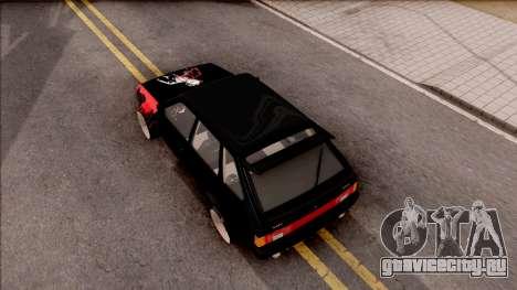 Lada 2109 для GTA San Andreas вид сзади