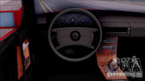 Mercedes-Benz 500SL R129 1989 для GTA San Andreas вид изнутри
