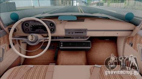 Plymouth Fury 1958 HQLM для GTA San Andreas вид изнутри