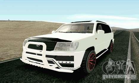 Toyota Land Cruiser 100 2017 для GTA San Andreas