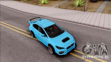 Subaru WRX STI 2017 Tuning для GTA San Andreas вид справа