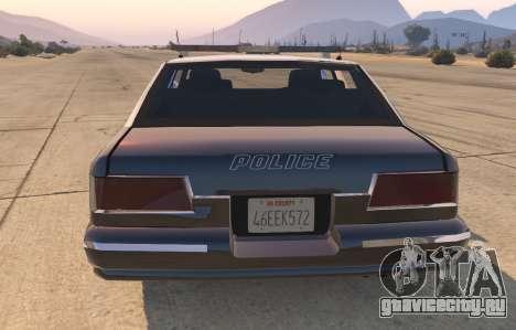 Полицейское авто из GTA San Andreas для GTA 5 вид сзади