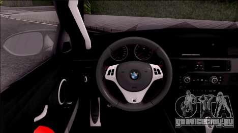 BMW M3 E92 Liberty Walk Performance 2013 для GTA San Andreas вид изнутри