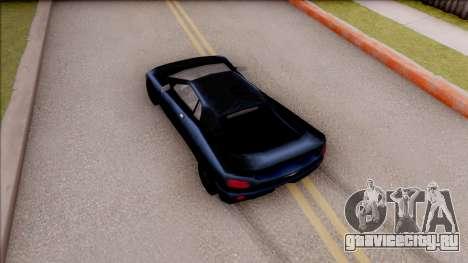 Infernus from GTA 3 для GTA San Andreas вид сзади