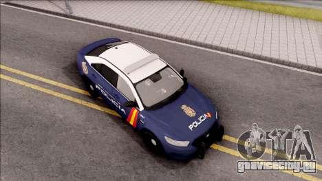 Ford Taurus Spanish Police для GTA San Andreas вид справа