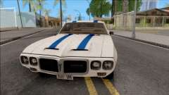 Pontiac Firebird Trans Am Coupe 1969 для GTA San Andreas