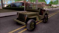 Jeep Willys MB Military для GTA San Andreas