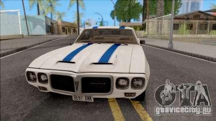 Pontiac Firebird Trans Am Coupe 1969 для GTA San Andreas