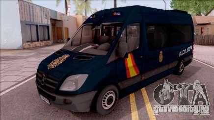 Mercedes-Benz Sprinter Spanish Police для GTA San Andreas