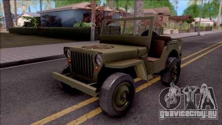 Jeep Willys MB Military для GTA San Andreas