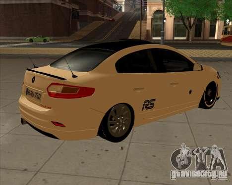 Renault Fluence для GTA San Andreas вид сзади слева