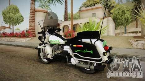 New Police Bike v1 для GTA San Andreas вид сзади слева