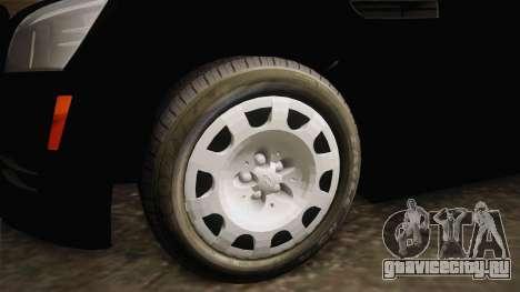 Chevrolet Caprice Police для GTA San Andreas вид сзади