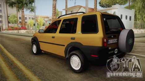 Land Rover Freelander v6 для GTA San Andreas вид слева