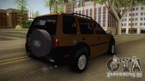 Land Rover Freelander v6 для GTA San Andreas вид сзади слева