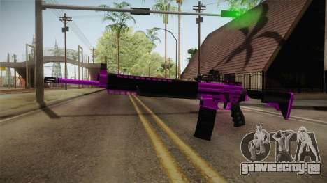 Purple M4A1 для GTA San Andreas второй скриншот