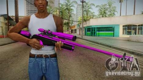 Purple Sniper Rifle для GTA San Andreas третий скриншот