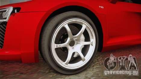 Audi R8 2017 для GTA San Andreas вид сзади