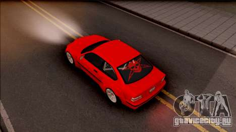 BMW M3 E36 Drift Rocket Bunny v3 для GTA San Andreas вид сзади