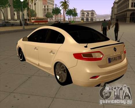 Renault Fluence для GTA San Andreas вид слева