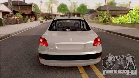 Peugeot 207 Passion для GTA San Andreas вид сзади слева