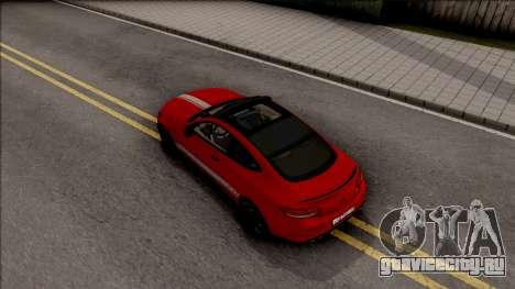 Mercedes-Benz C63S AMG Coupe для GTA San Andreas вид сзади