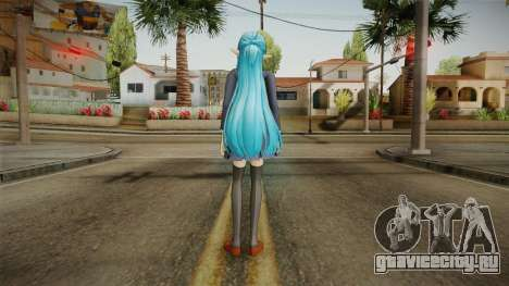 Asuna Yuuki School Uniform v2 для GTA San Andreas третий скриншот