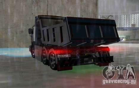 КАМАЗ 65115 BLACK NIGHT для GTA Vice City вид сзади слева