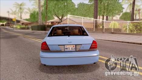 Ford Crown Victoria 2003 для GTA San Andreas вид сзади слева