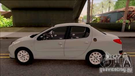 Peugeot 207 Passion для GTA San Andreas вид слева