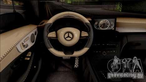Mercedes-Benz C63S AMG Coupe для GTA San Andreas вид изнутри