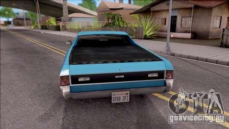 Sabre La Destino Turbo для GTA San Andreas вид сзади слева