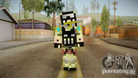 Minecraft Swat Skin для GTA San Andreas второй скриншот