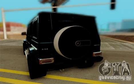 Mercedes-Benz G63 Brabus для GTA San Andreas вид сзади