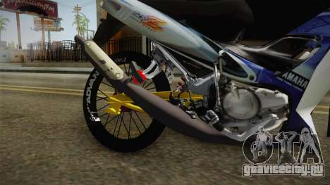 Yamaha 125Z Alloy Black для GTA San Andreas вид сзади